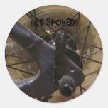 """""""Get Spoked!"""" Sticker"""