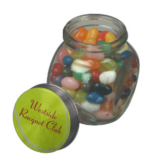 Get Sporty_Tennis_Fuzzy Ball Design personalized Jelly Belly Candy Jars