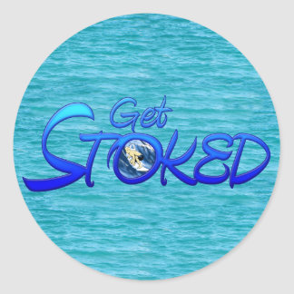 Get Stoked Classic Round Sticker
