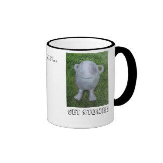 Get Stoned, Everybody must... Ringer Coffee Mug