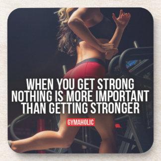 Get Stronger - Women's Workout Motivational Coaster
