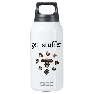 get stuffed. (mushrooms) 10 oz insulated SIGG thermos water bottle