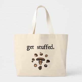get stuffed. (mushrooms) large tote bag