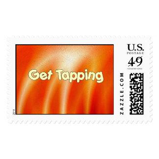 Get Tapping - Tap Dancing Postage Stamp