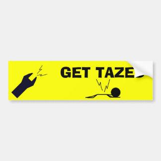 Get Tazed Bumper Sticker