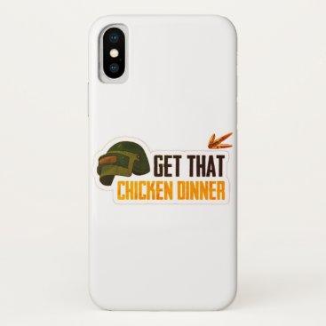 get that chicken dinner pubg iPhone x case