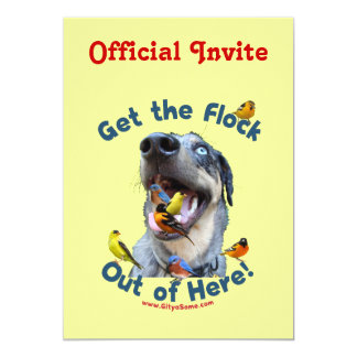Get the Flock Out Of Here Dog Card