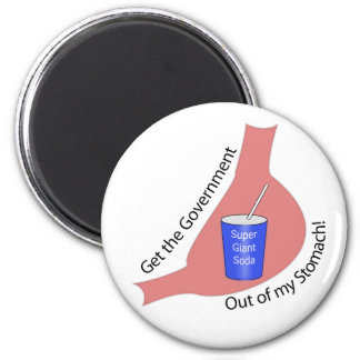 Get the Government Out of My Stomach! 2 Inch Round Magnet