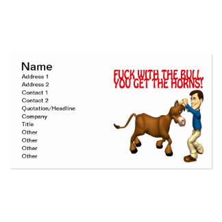 Get The Horns Business Card