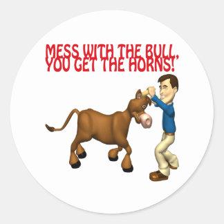 Get The Horns Classic Round Sticker