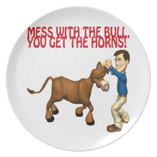 Get The Horns Dinner Plate
