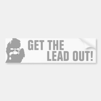 Get the Lead Out! - Michigan Water Bumper Sticker