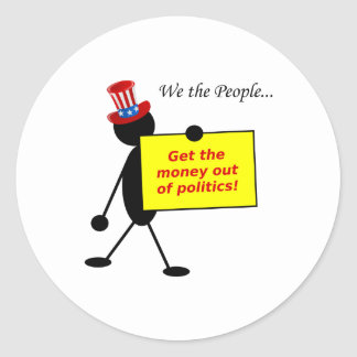 Get The Money Out of Politics Classic Round Sticker