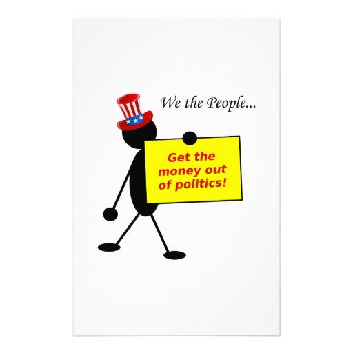 Get The Money Out of Politics Stationery Paper