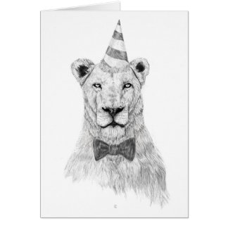 Get the party started greeting card