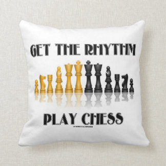 Get The Rhythm Play Chess (Reflective Chess Set) Throw Pillow