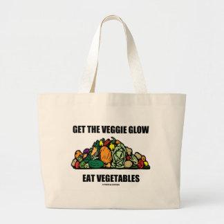 Get The Veggie Glow Eat Vegetables Tote Bags