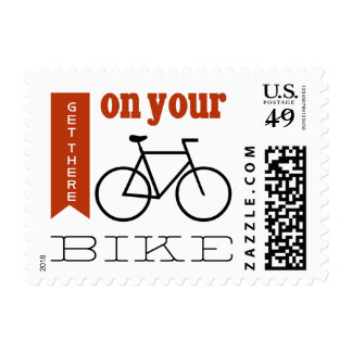 Get there on your bike postage stamp