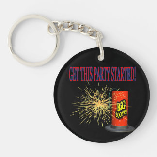 Get This Party Started Single-Sided Round Acrylic Keychain