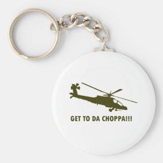 Get To Da Choppa!!! Basic Round Button Keychain