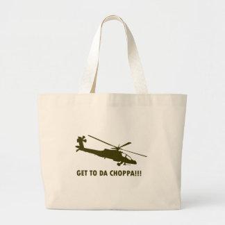 Get To Da Choppa!!! Jumbo Tote Bag