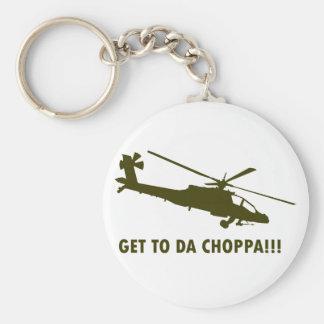 Get To Da Choppa!!! Keychain