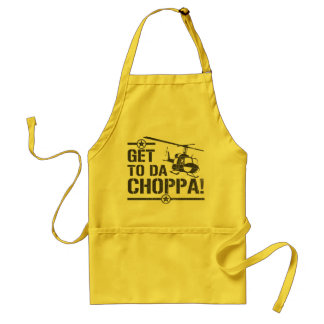 Get To Da Choppa Vintage Adult Apron