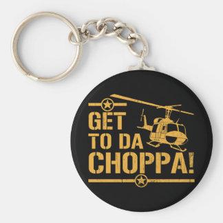 Get To Da Choppa Vintage Basic Round Button Keychain