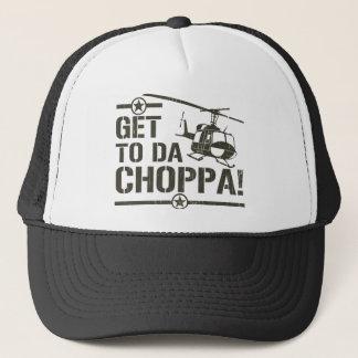 Get To Da Choppa Vintage Trucker Hat