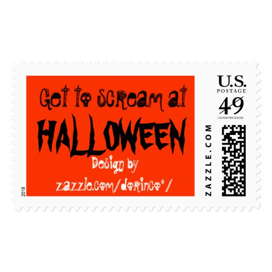 Get to scream at Halloween Postage