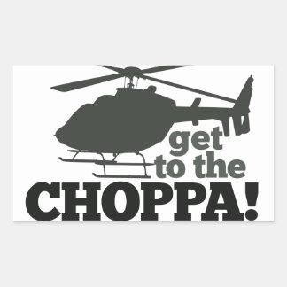 Get to the Choppa Rectangle Sticker