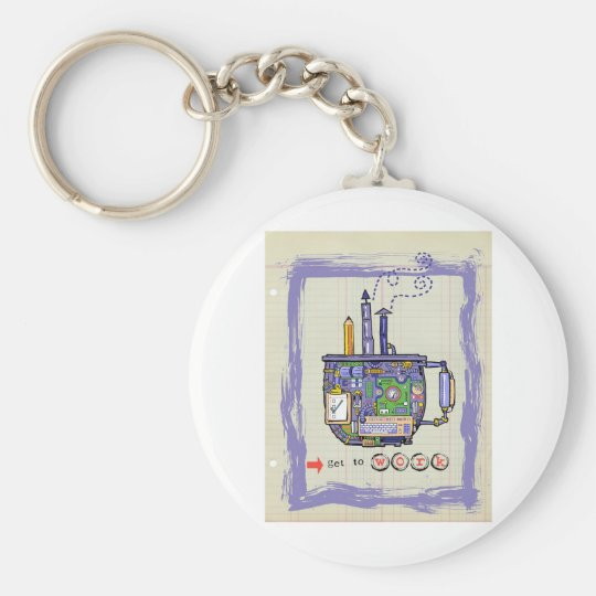 Get to Work! Keychain