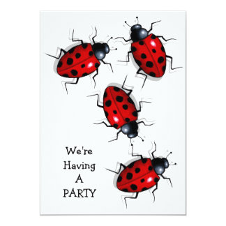 Get Together: Realistic Ladybugs, Ladybirds: Art Card