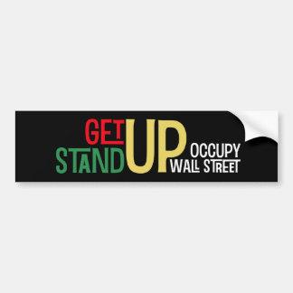 Get Up Stand Up Bumper Sticker Car Bumper Sticker