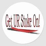 Get ur stoke on! saying sticker