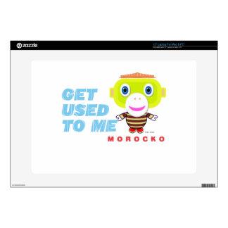 "Get Used To Me-Cute Monkey-Morocko 15"" Laptop Skin"