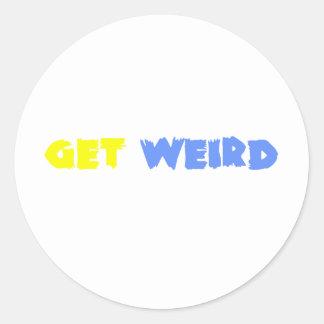 Get Weird! Classic Round Sticker