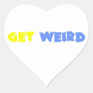 Get Weird! Heart Sticker