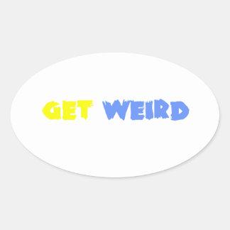 Get Weird! Oval Sticker