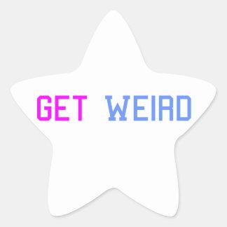 Get Weird Star Sticker