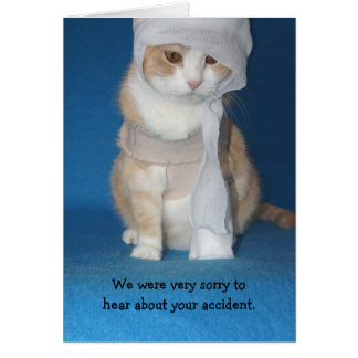 Get Well Accident/Broken Arm Greeting Card