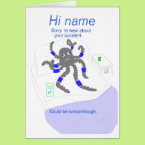 Get well after accident, add name front card