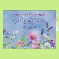 Get Well After Accident, Garden Flowers Card