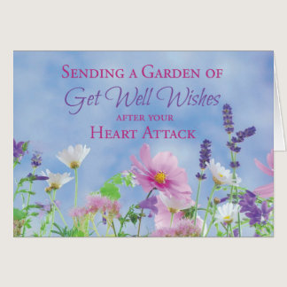 Get Well After Heart Attack, Garden Flowers Card