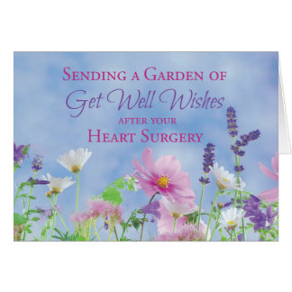 Get Well After Heart Surgery, Garden Flowers Card