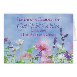 Get Well After Hip Replacement, Garden Flowers Card