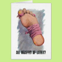 Get Well: All Wrapped Up? Great for after Surgery Card