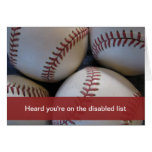 Get well, baseball greeting card