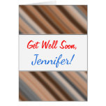 [ Thumbnail: Get Well + Blurry Rustic Inspired Stripes Pattern ]