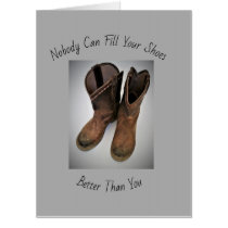 "Get Well Boots  (Big 18""x24"") Card"